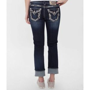 Miss Me Easy Stretch Mid Rise Cropped Jean